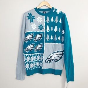 NFL Philadelphia Eagles Holiday Knit Sweater L NWT